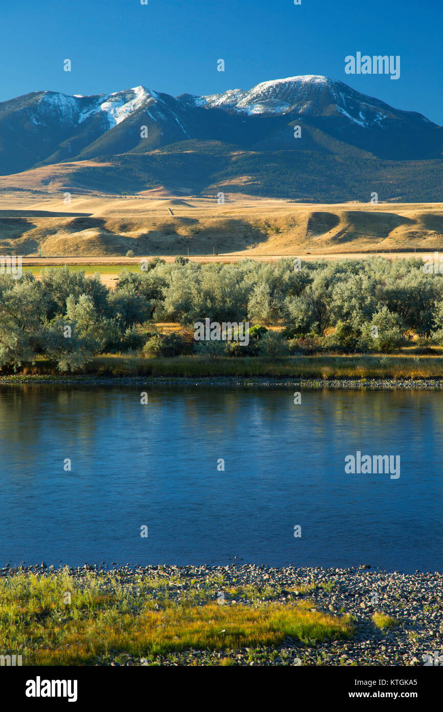 Yellowstone River, Springdale Fishing Access Site, Park County, Montana - Stock Image