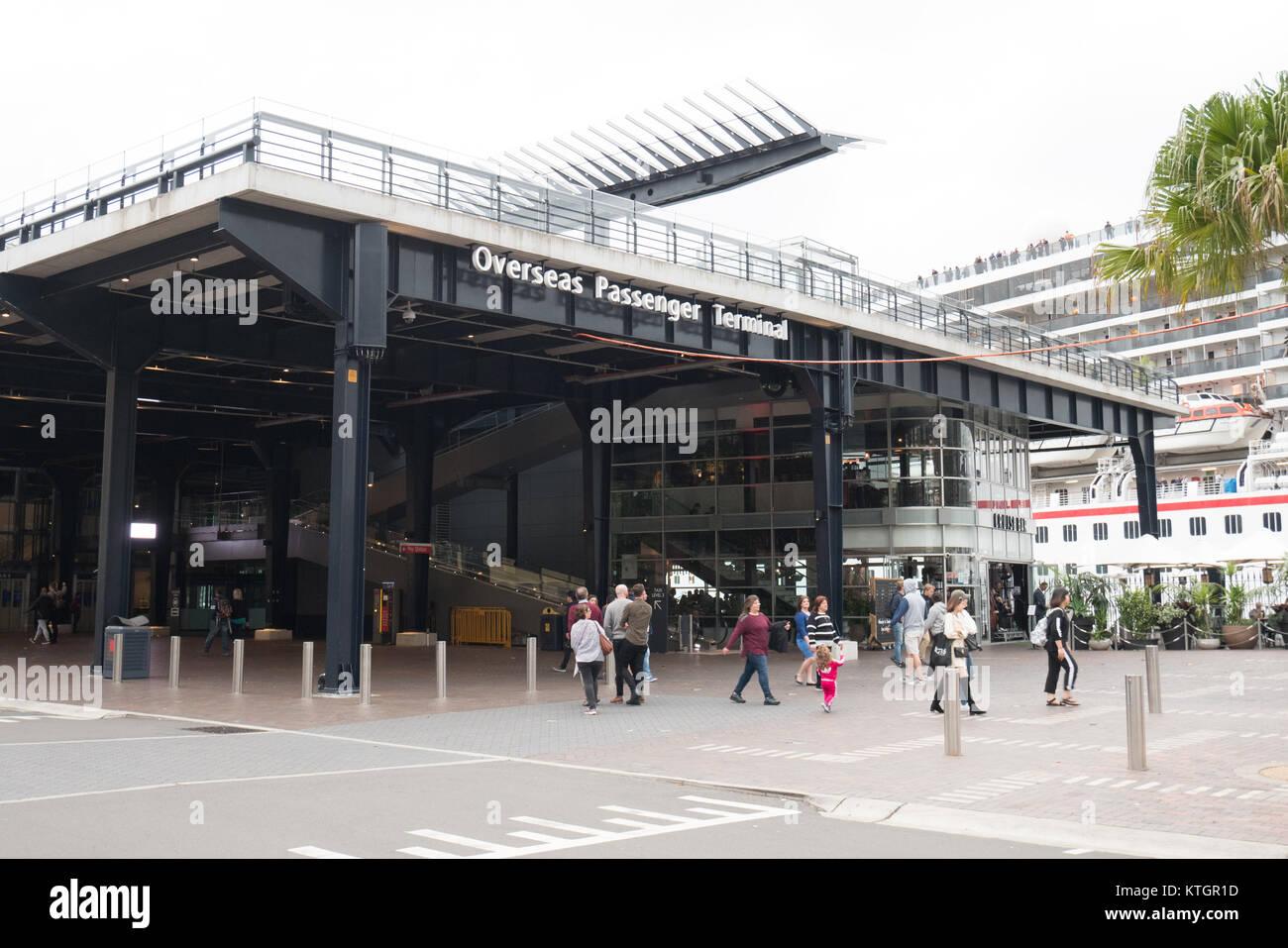 Sydney circular quay ferry terminal - Stock Image