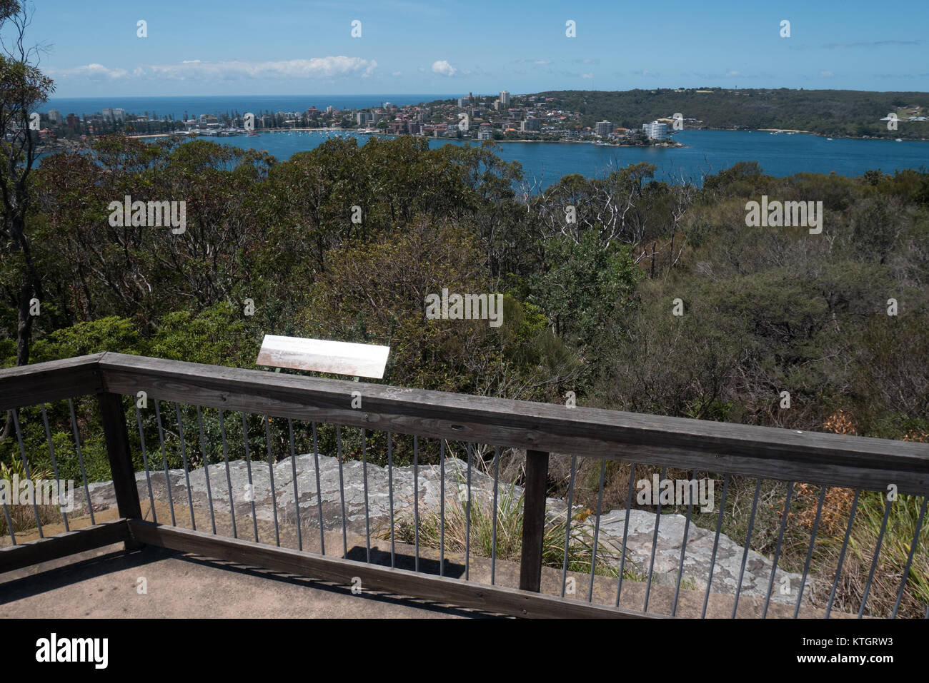 arabanoo outlook point in sydney - Stock Image