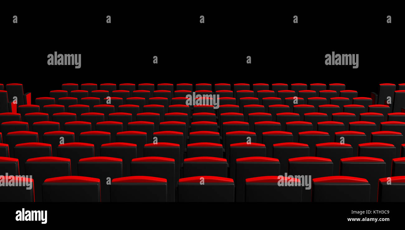 Picture of: Red Theater Chairs On Dark Background View From Behind Copyspace Stock Photo Alamy