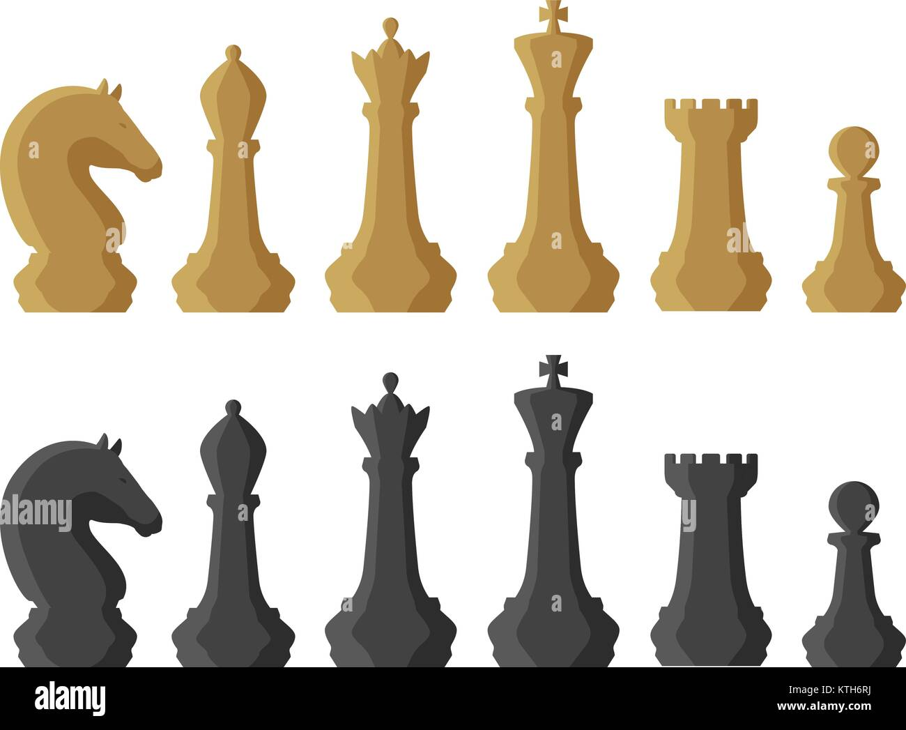 Chess pieces. Game concept. Vector illustration Stock Vector