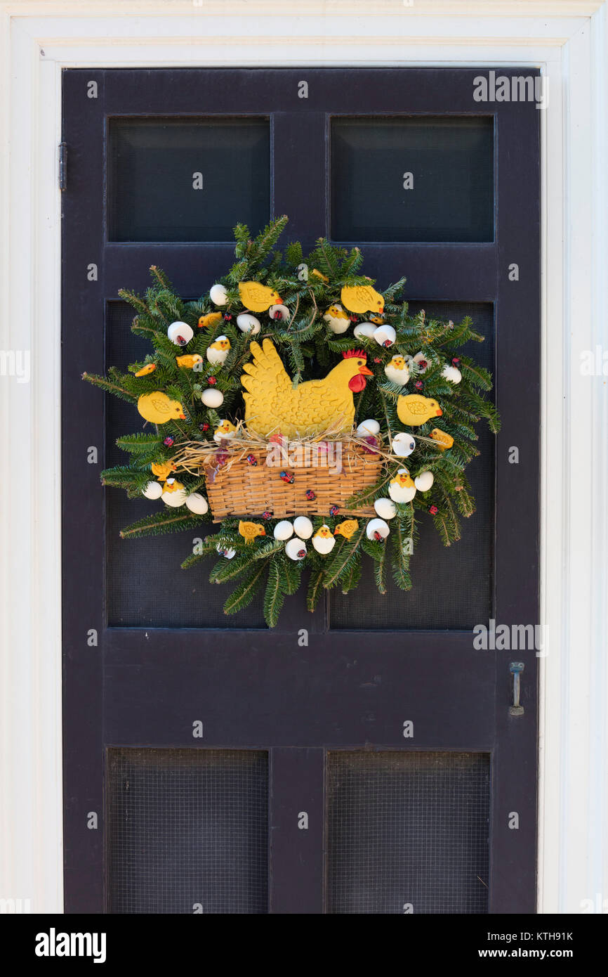 christmas door decorations colonial williamsburg virginia stock image