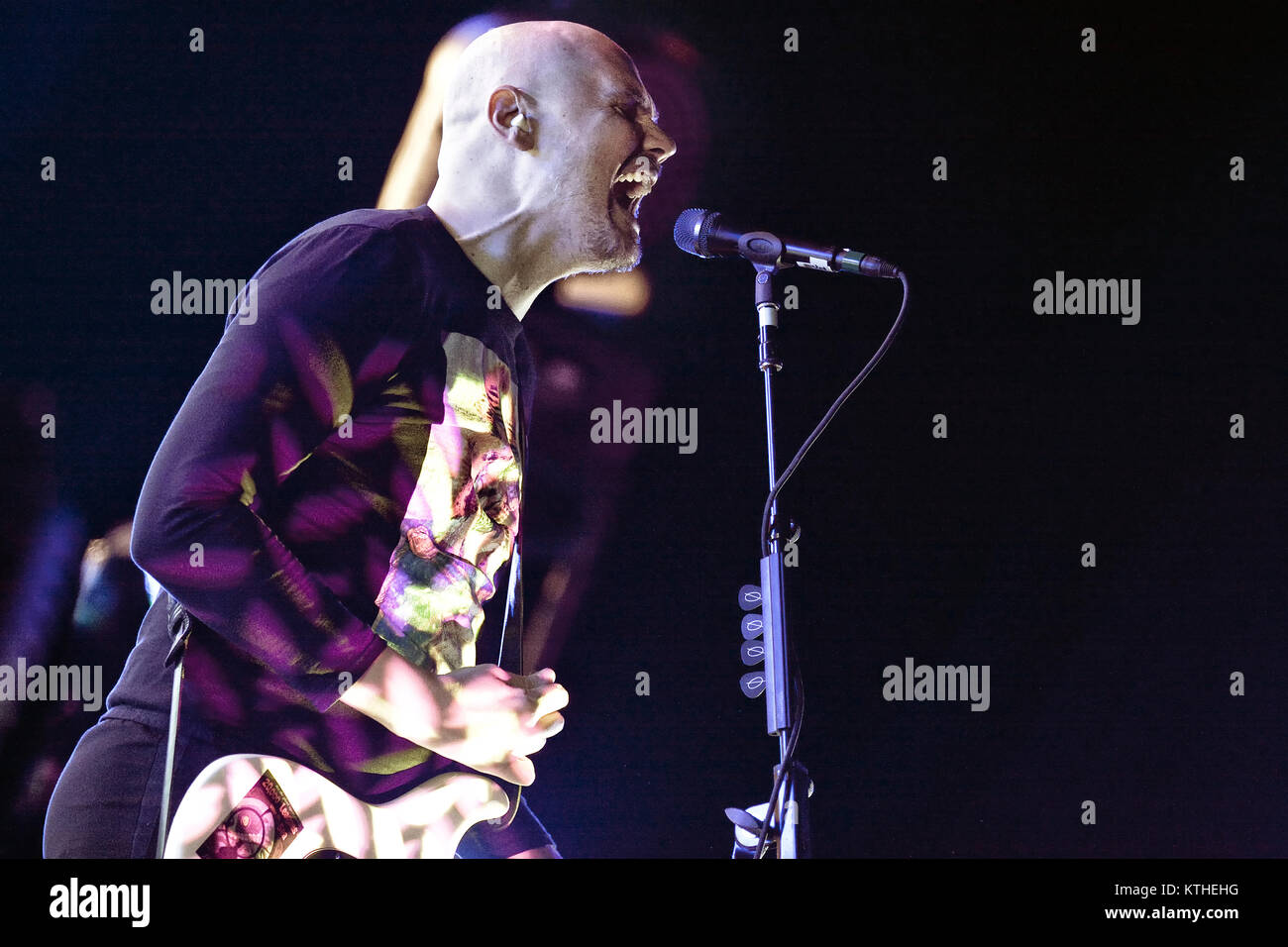 The American alternative rock band The Smashing Pumpkins performs a live concert at Oslo Spektrum. Here singer, - Stock Image