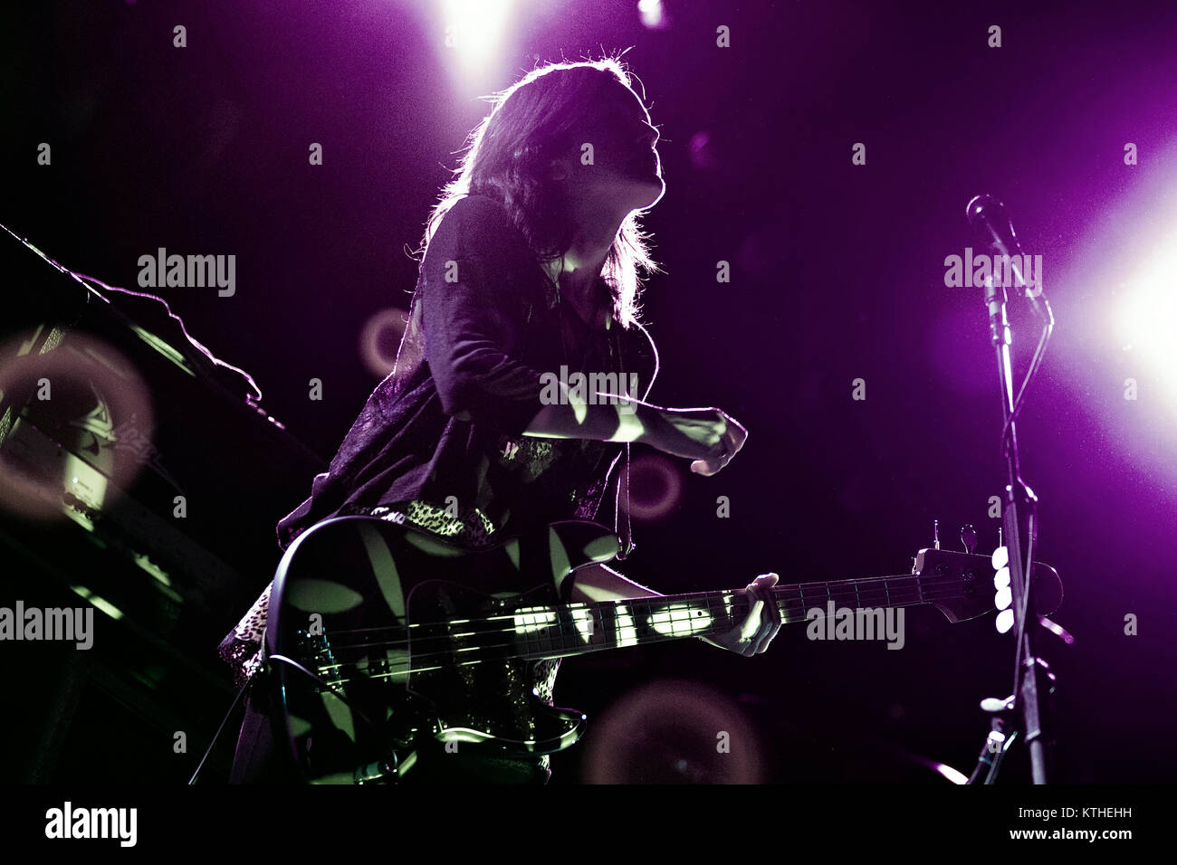 The American alternative rock band The Smashing Pumpkins performs a live concert at Oslo Spektrum. Here musician - Stock Image
