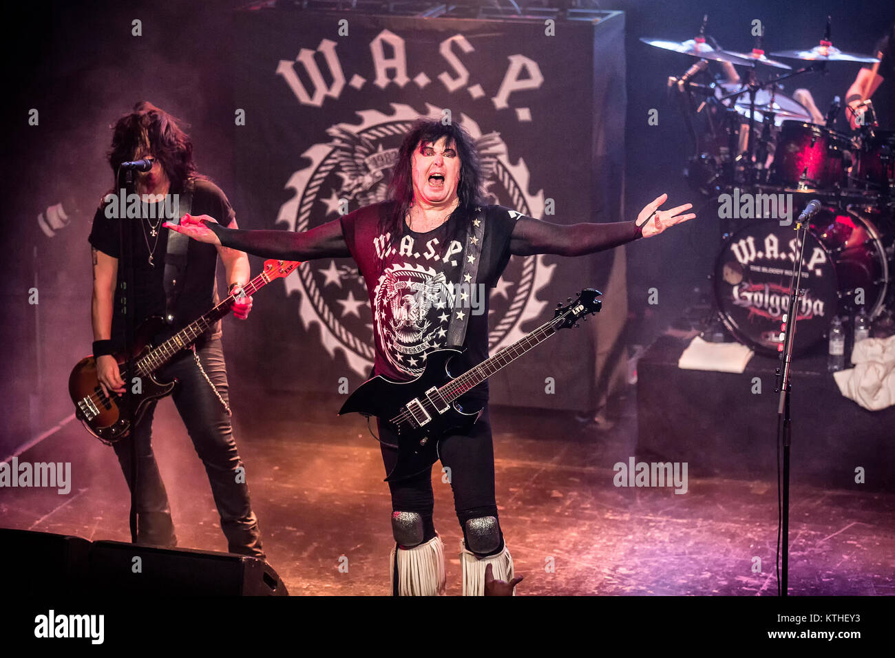 The American glam metal band W A S P  performs a live