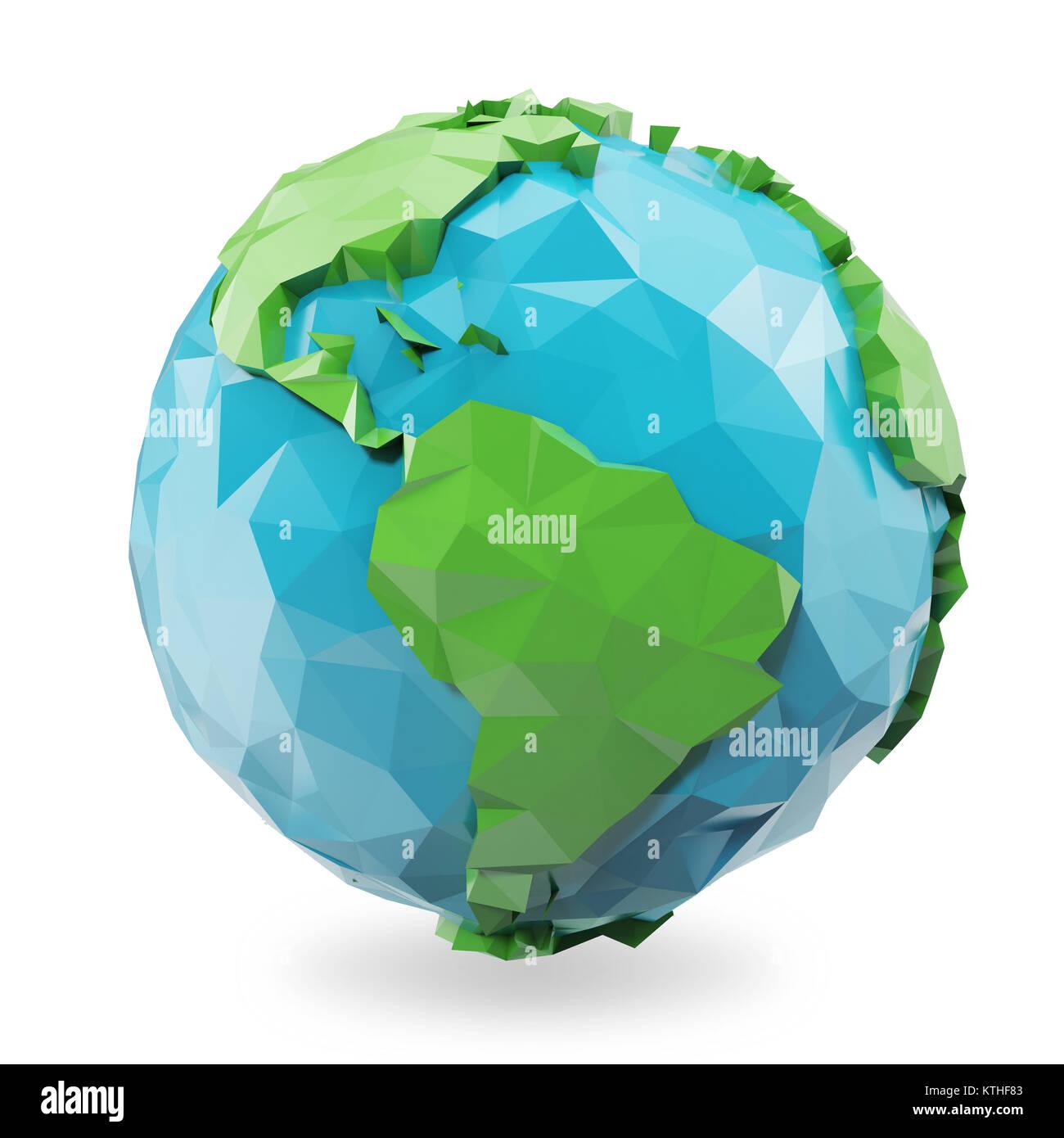 polygon design 3d globe stock photos polygon design 3d globe stock