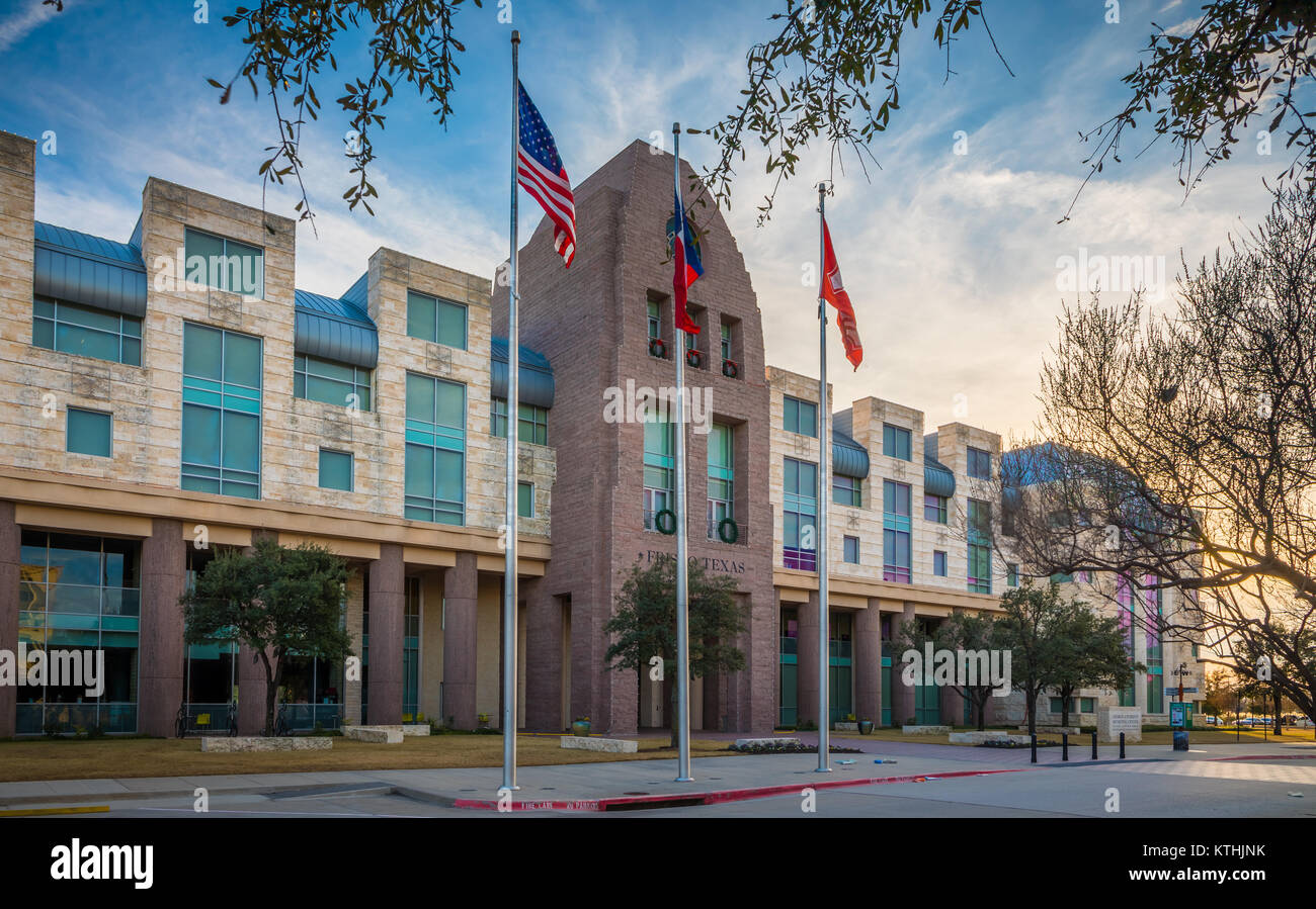 Frisco City Hall in Frisco, Texas. Frisco is a city in Collin and Denton counties in Texas, in the Dallas-Fort Worth - Stock Image