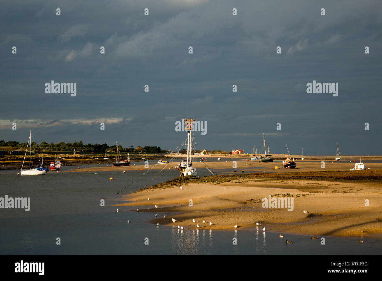 The tidal estuary at Wells-next-the-Sea,Norfolk Stock Photo