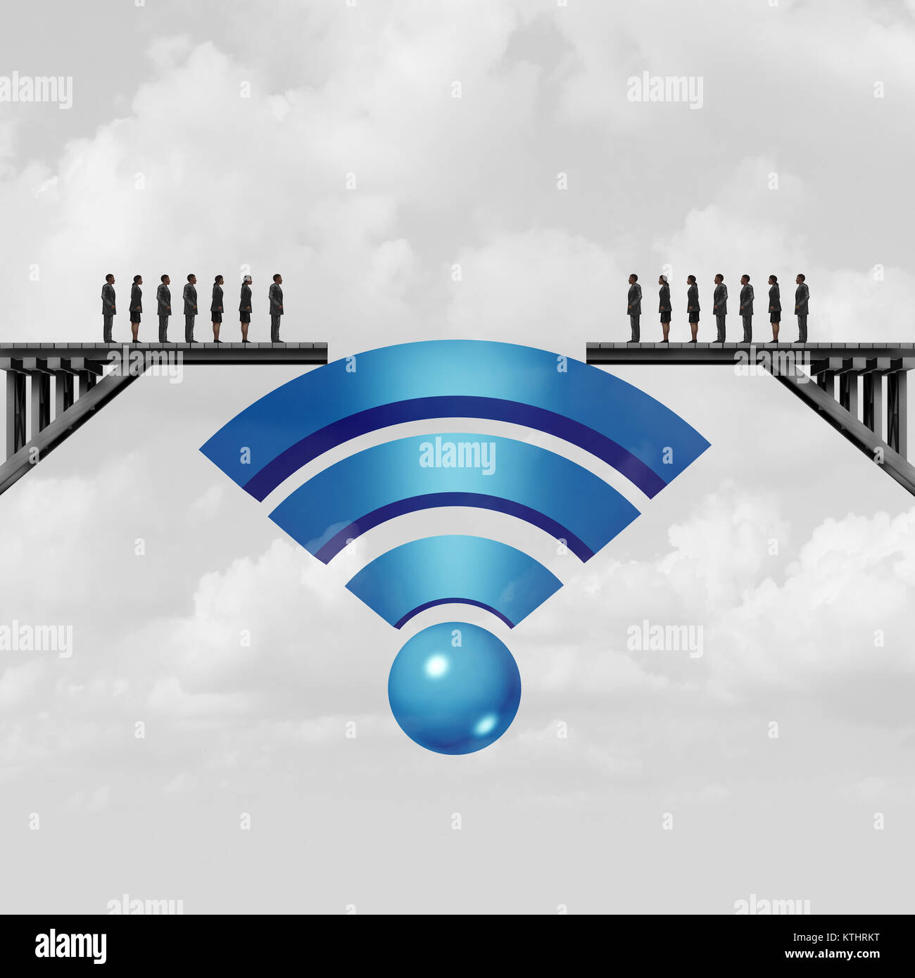 Internet Connectivity And Web Connection Concept Or Online Solution