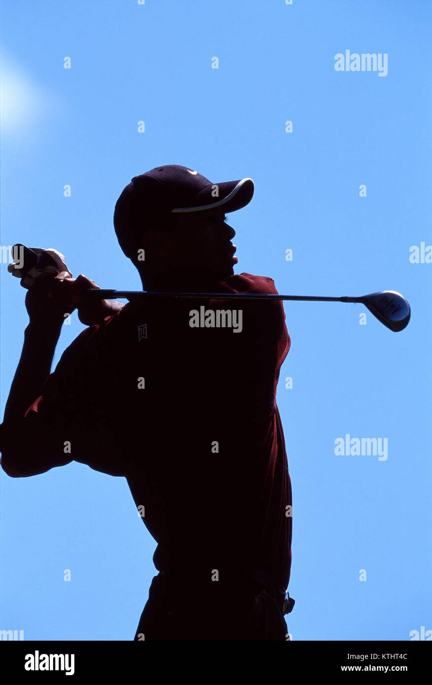 Tiger Woods competing at the 1999 Bay Hill Invitational Stock Photo