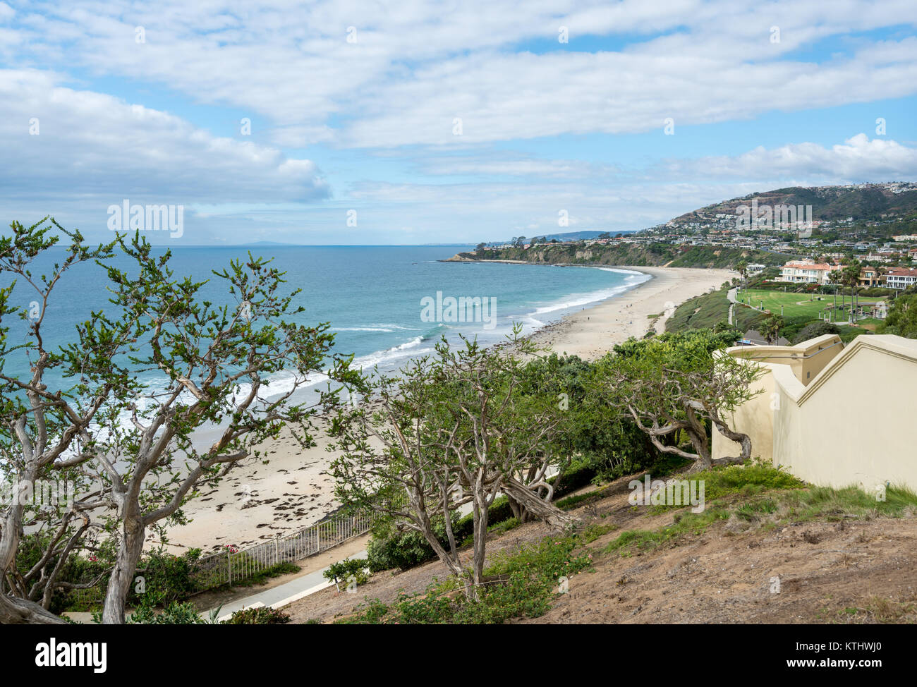View of the coastline at Dana Point in California - Stock Image