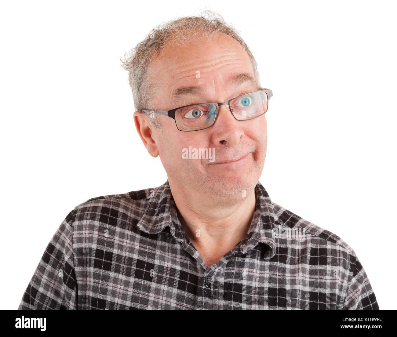 A man is joking and mocking someone. - Stock Image