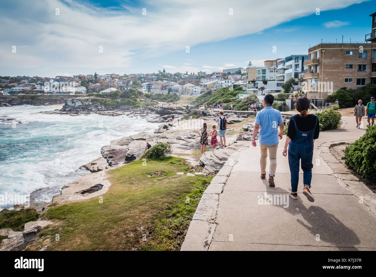 bondi to coogee costal walk in sydney Stock Photo