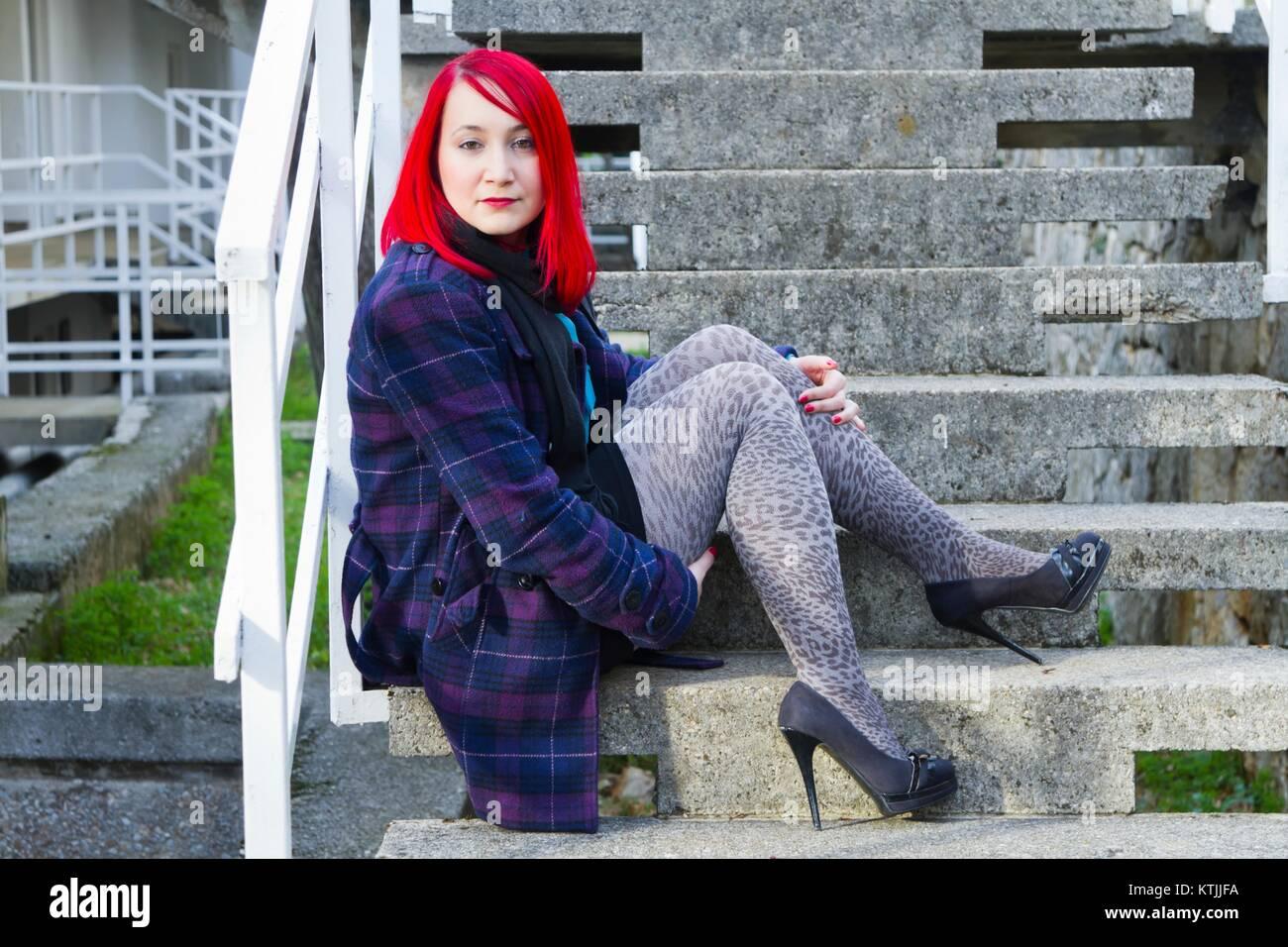 Feminine tightsaddict tightsaddicted Stock Photo