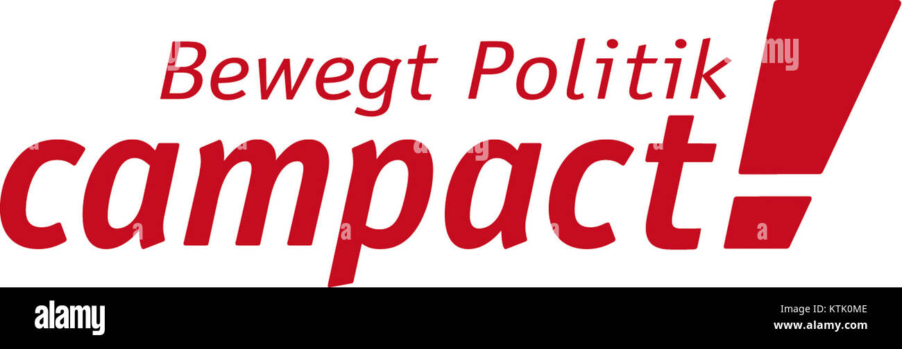 Campact Logo 201411 NEW CLAIM CMYK Stock Photo