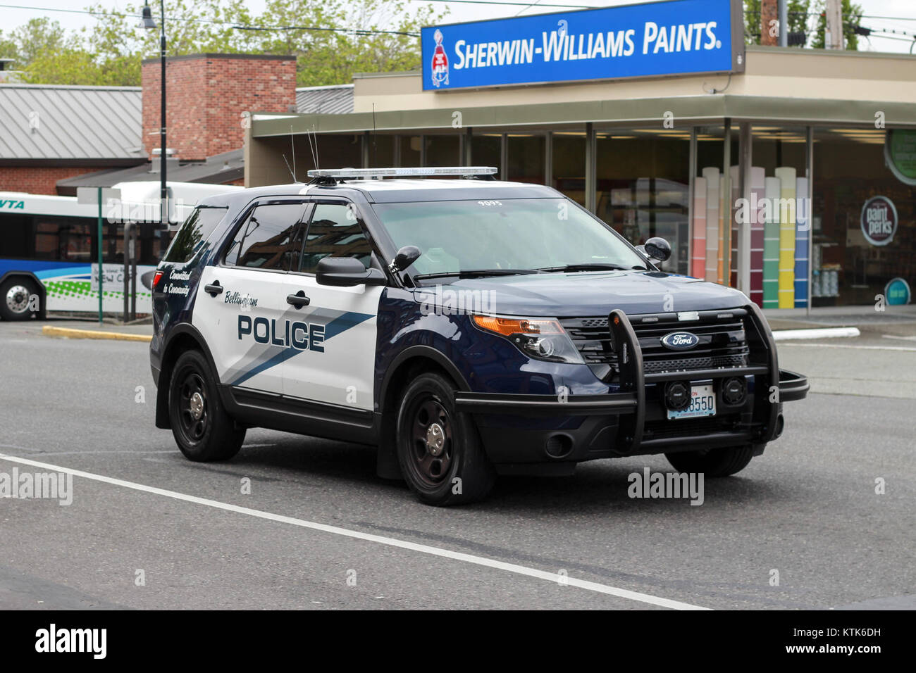 Bellingham Police Ford Police Utility   Stock Image