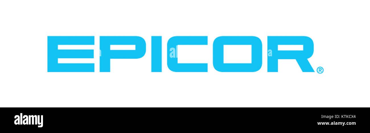 Epicor Logo Med Blue Stock Photo