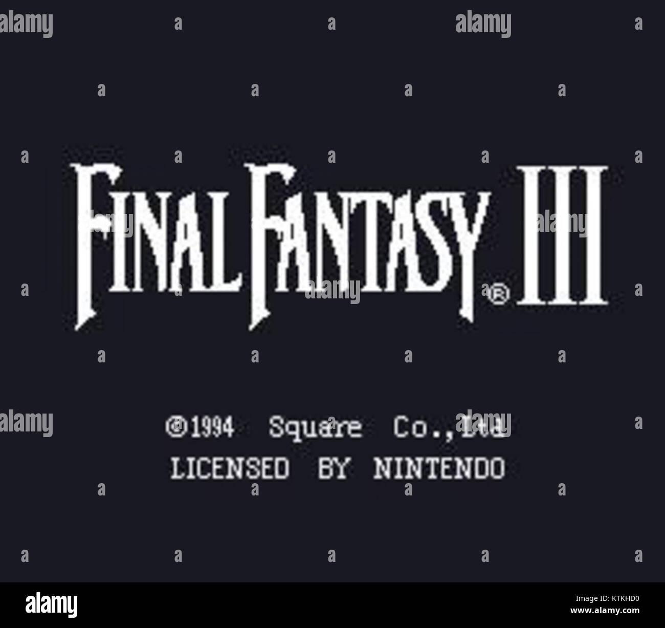 Final Fantasy VI opening screenshot North America FF3 - Stock Image