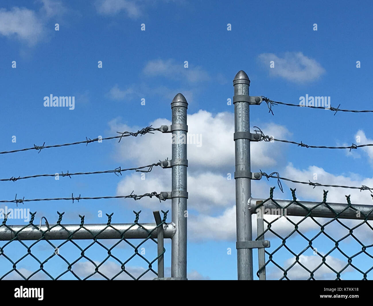Barbed Wire Gate Stock Photos & Barbed Wire Gate Stock Images - Alamy