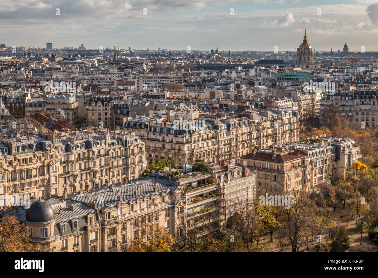 Panoramic view of Paris - Stock Image