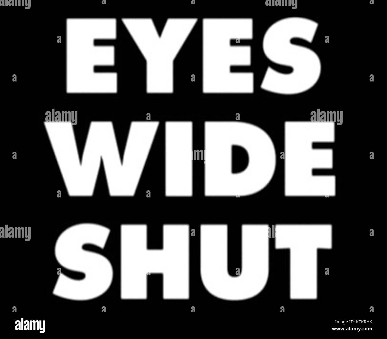 Eyes wide shut logo - Stock Image