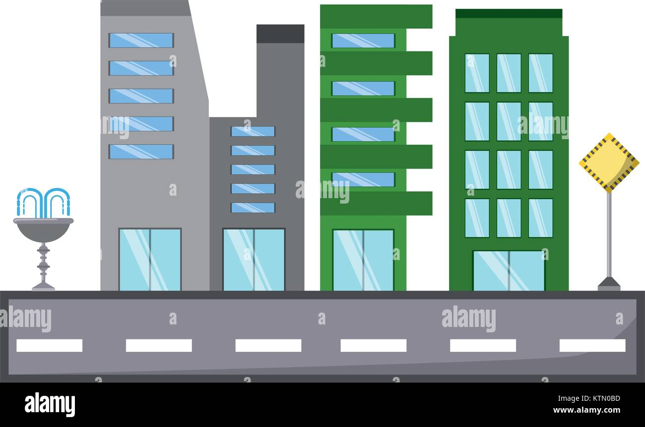 city buildings design - Stock Vector
