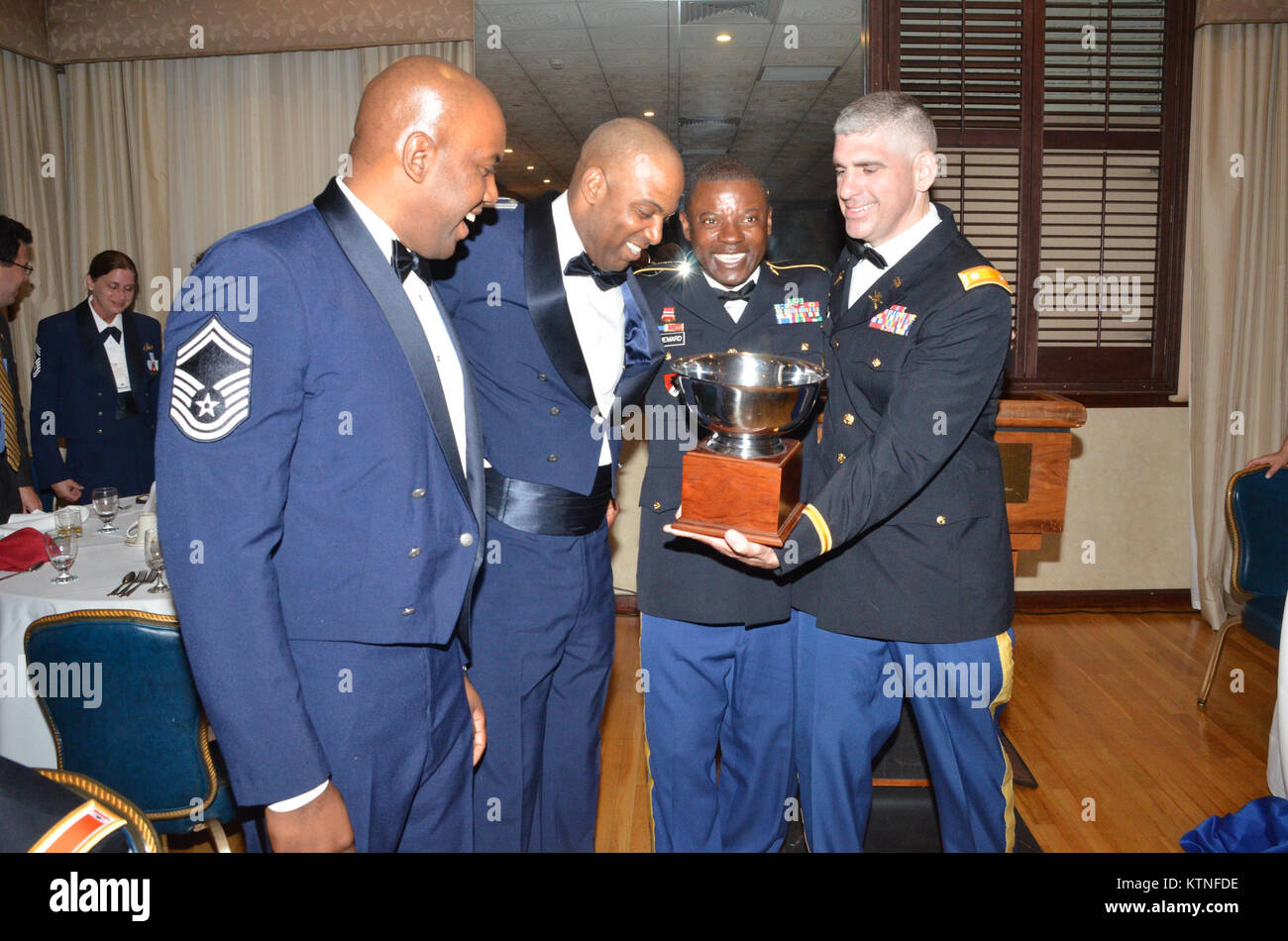 Joint Task Forcee Empire Shield (State Active Duty) 5th Annual Dine In Awards Dinner - Held at Fort Hamilton Community Stock Photo