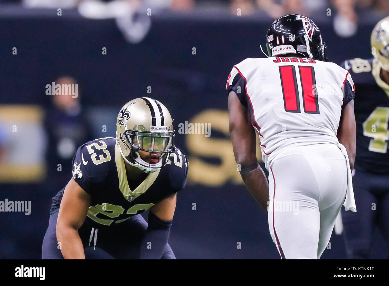 d42ec5a4e9c December 25, 2017 - New Orleans Saints cornerback Marshon Lattimore (23)  defends Atlanta Falcons wide receiver Julio Jones (11) at the Mercedes-Benz  ...
