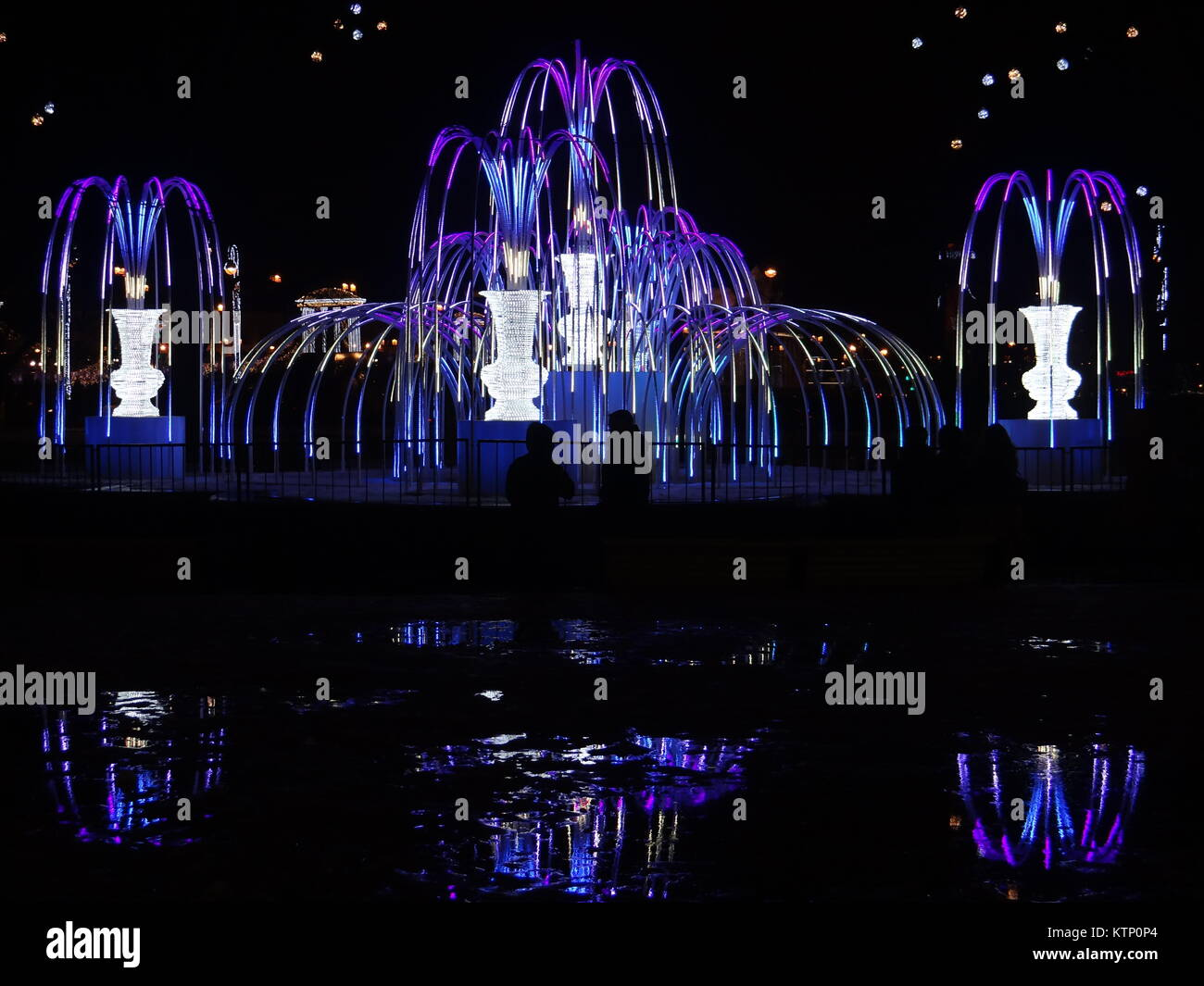 St Petersburg, Russia. 28th Dec, 2017. St Petersburg illuminated for the New Year 2018, St.Petersburg, Russia Credit: Stock Photo