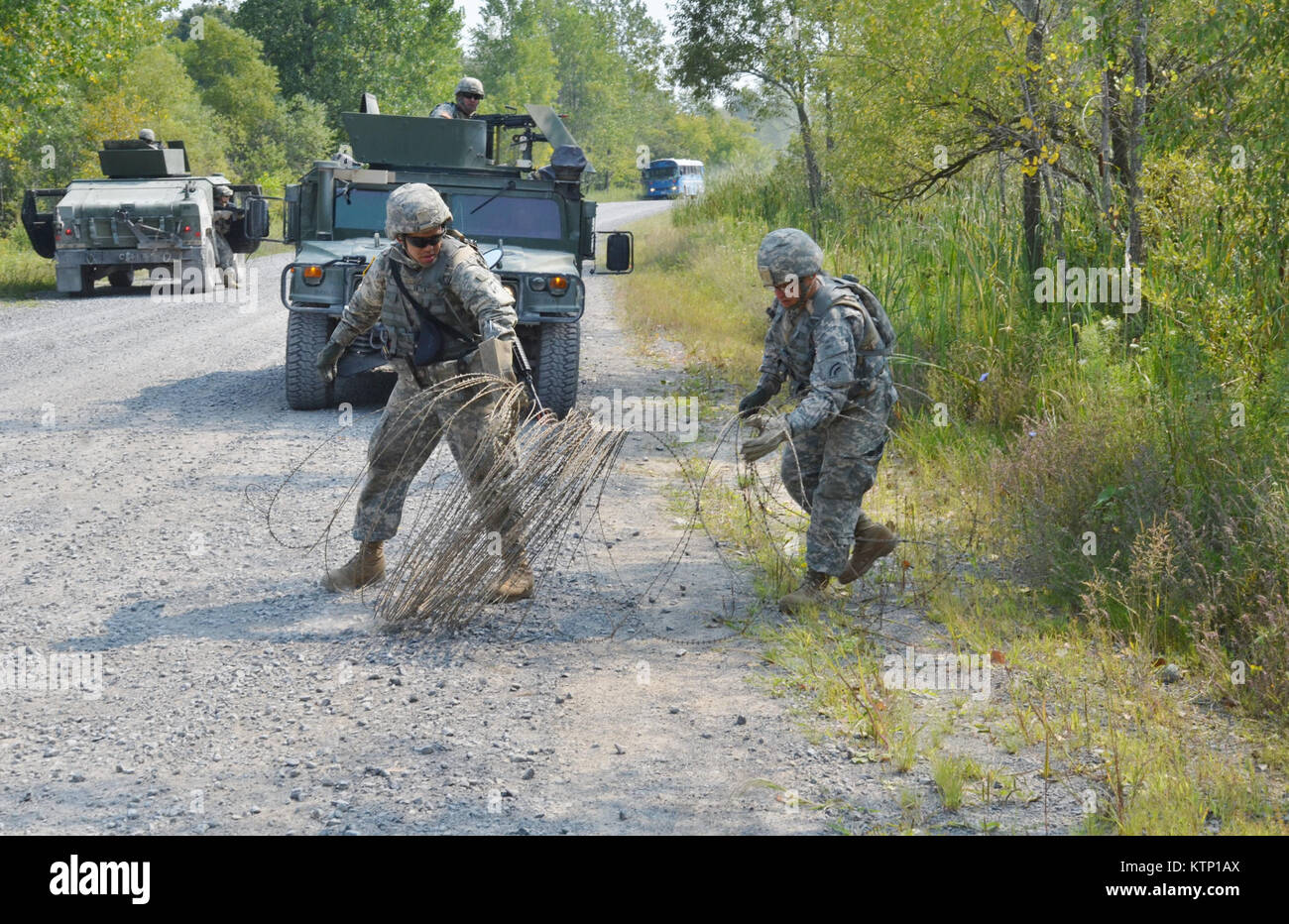Soldiers of the 42d ID NYARNG, and 642 ASB during their mounted training exercise held on AUg 21st at Ft Drum. This Stock Photo