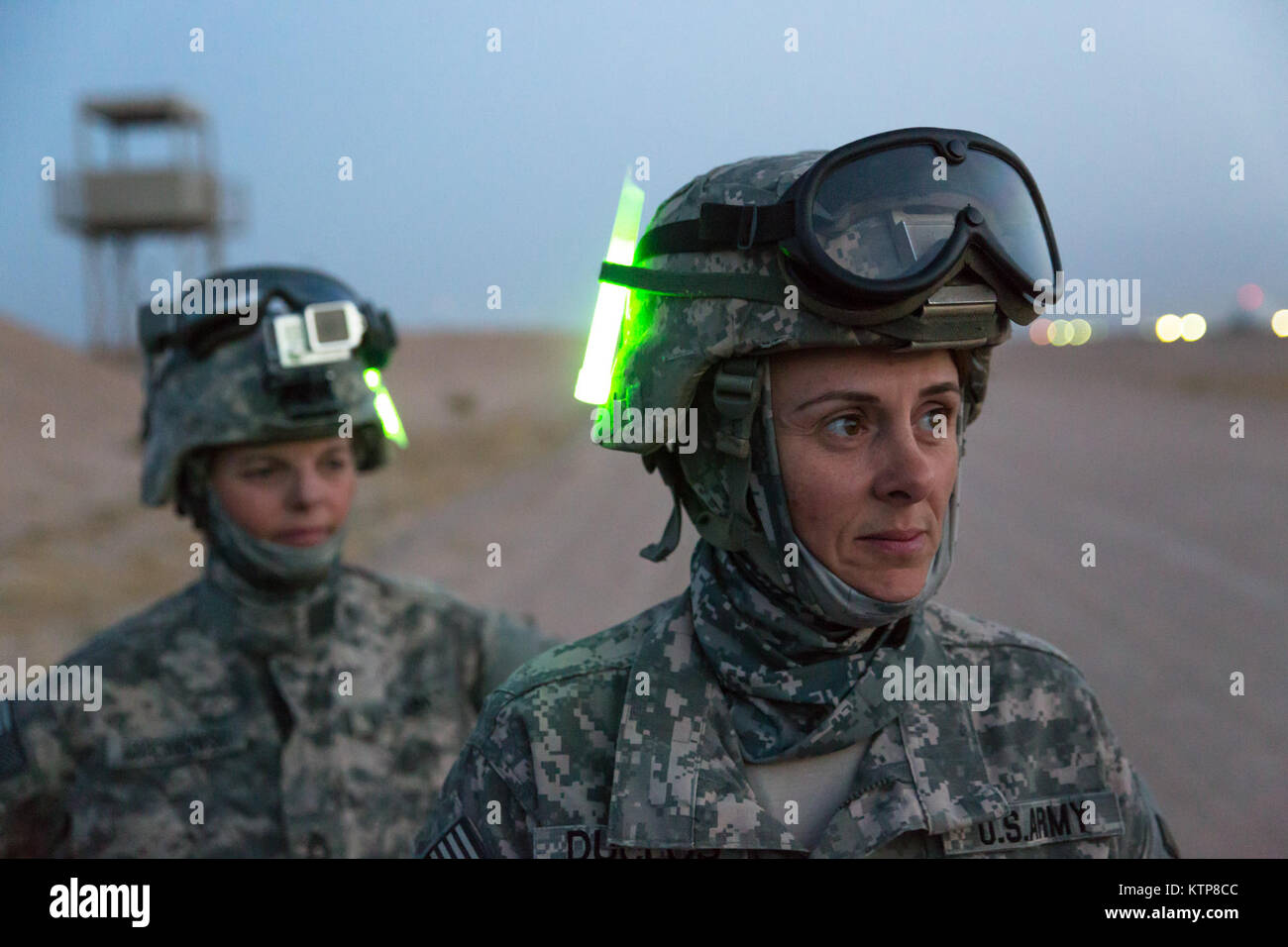 Sgt. First Class Joann Duclose (front), a senior human resources sergeant, and Master Sgt. Cindy Marcinkowski, the Stock Photo