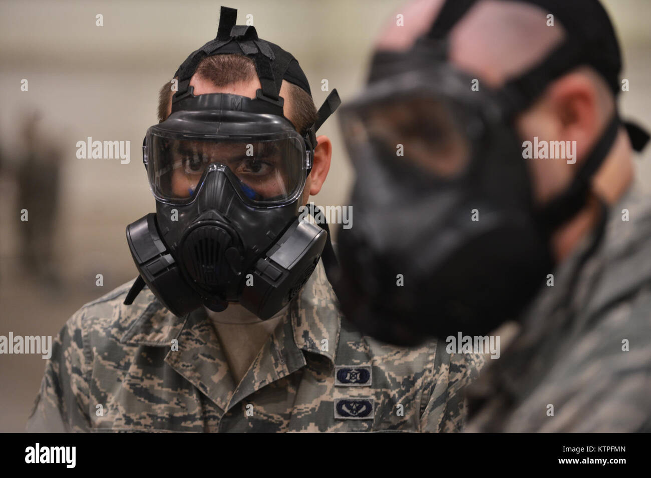 PERRY, GA - Airman First Class Jonathan Allen stands by during a training event at Global Dragon deployment for Stock Photo