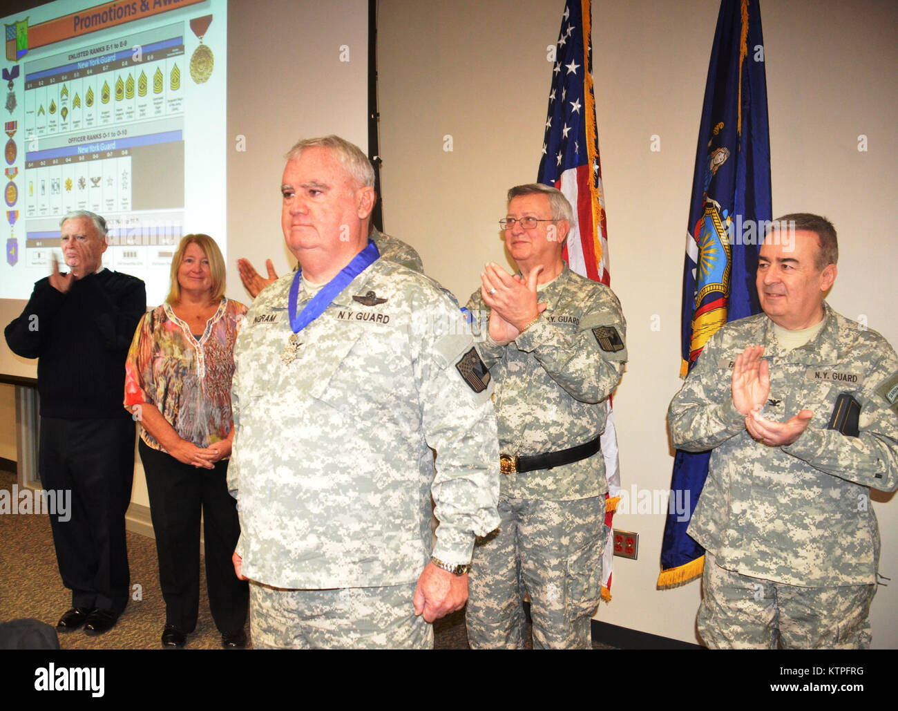 CORTLANDT MANOR, N.Y- On Saturday, March 14, at New York State's Division of Military and Naval Affairs Camp Smith Stock Photo