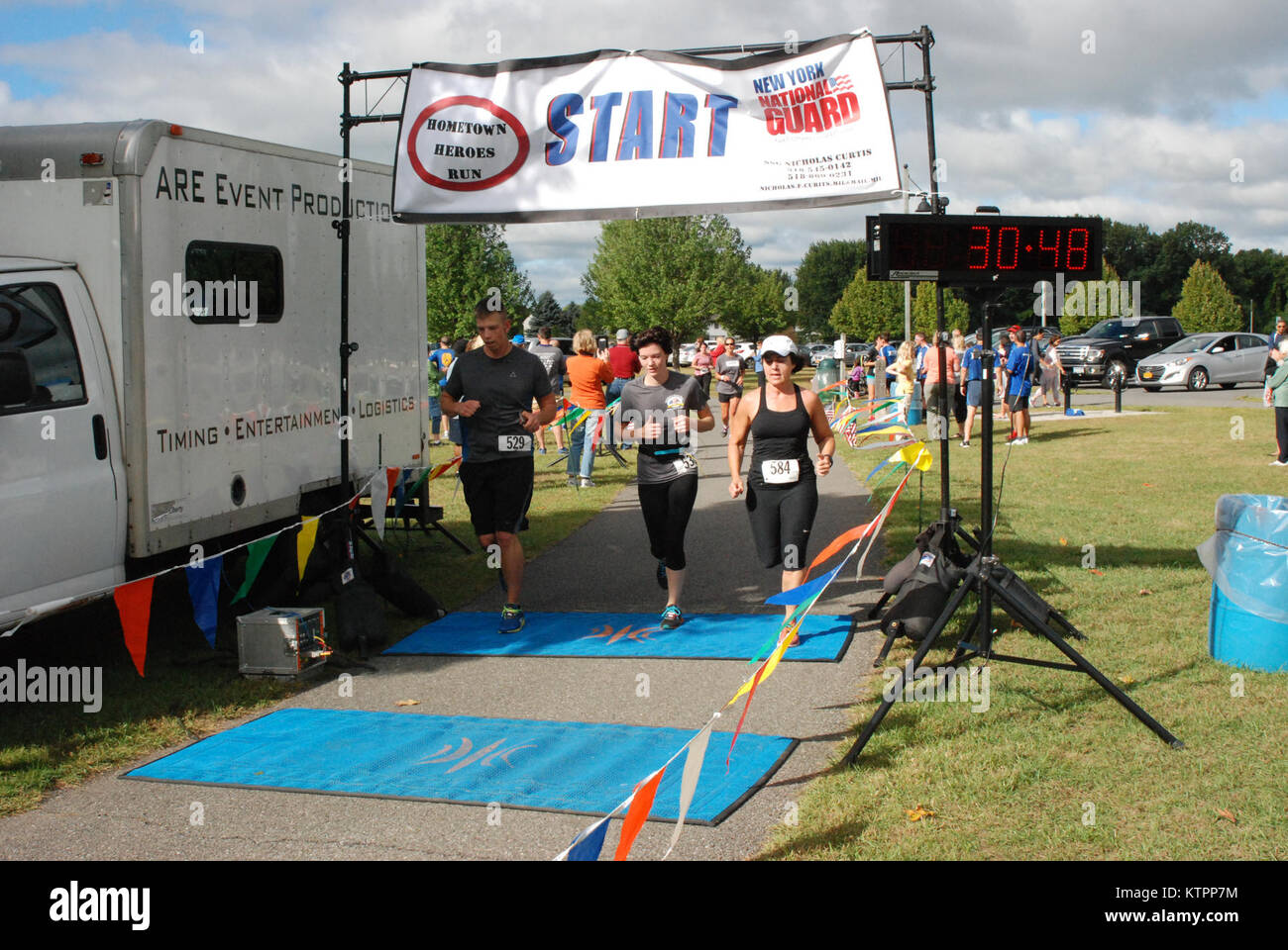 COLONIE, N.Y.- More than 150 runners participated in the New York National Guard Family Readiness Council's Home Stock Photo