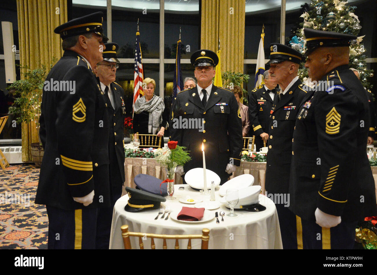 West Point, NY – On December 4th 2015, the New York Guard and the New York Naval Militia held their annual holiday Stock Photo