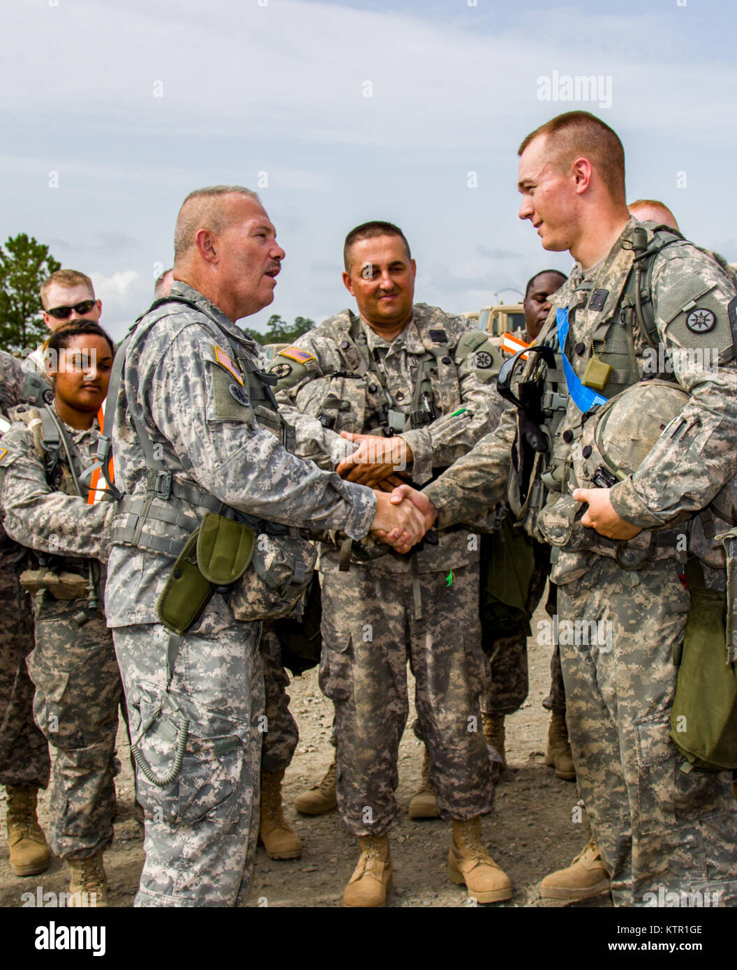 U S Army Reserve Col Robert Benjamin The Commander Of 655th Stock Photo Alamy