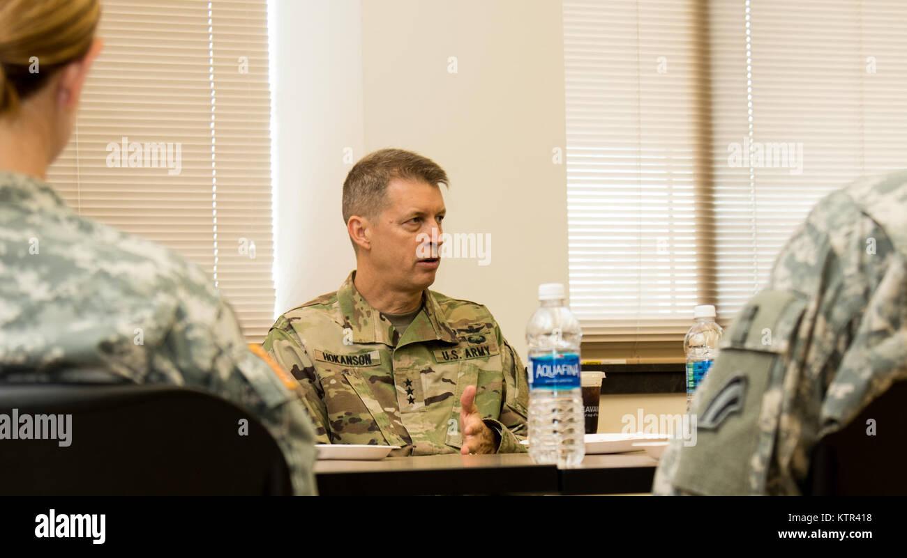 Lt. Gen. Daniel R. Hokanson, the deputy commander, U.S. Northern Command, and vice commander, U.S. Element, North Stock Photo