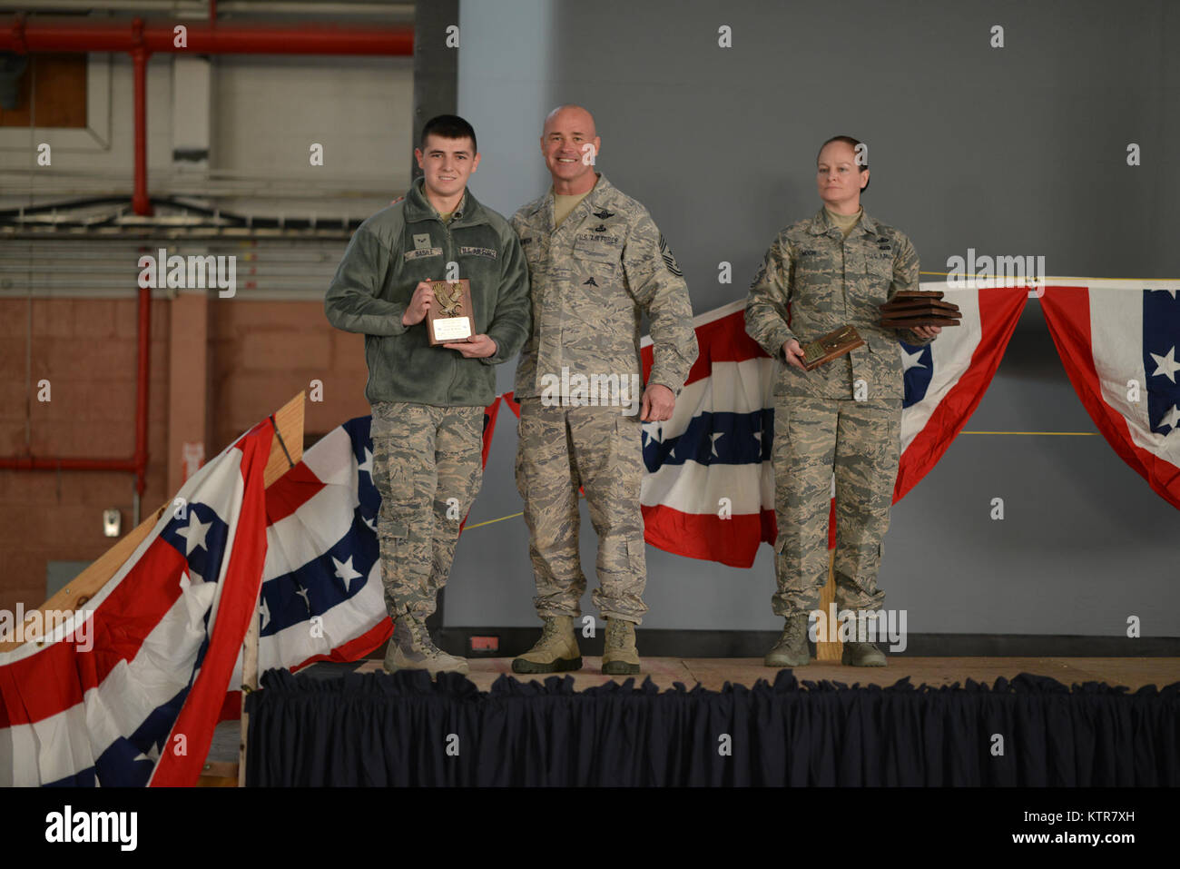 106th Rescue Wing December Drill Award Winners Stock Photo