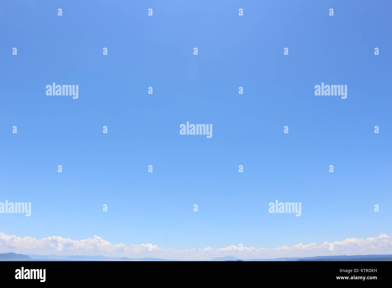 Pure Blue Skies of the Atacama Desert - Stock Image