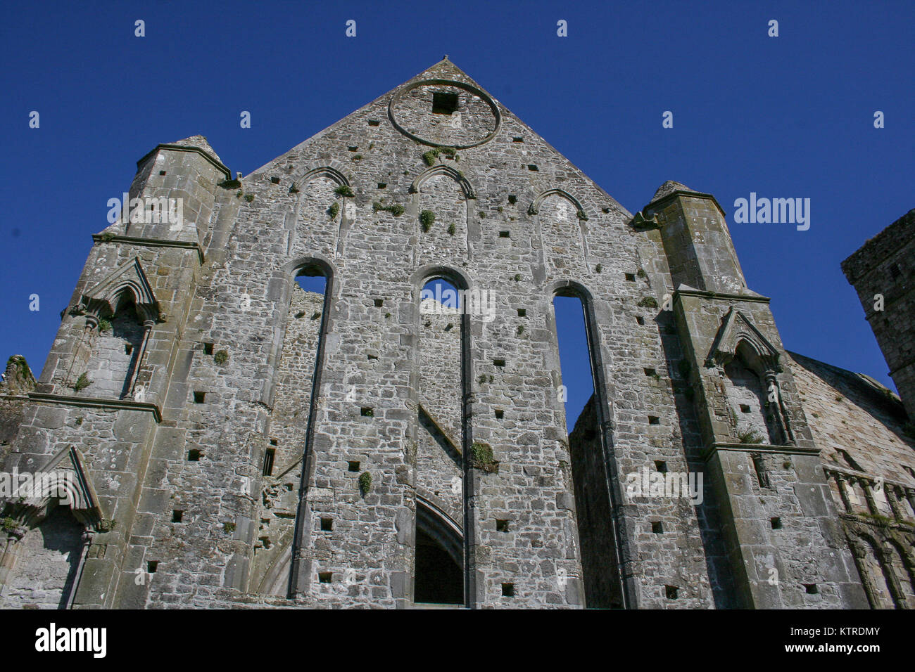 Irelands historic Cashel Chapel an archeological site in Tipperary. - Stock Image