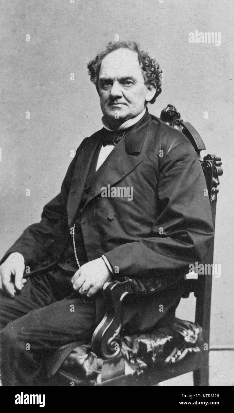 PT Barnum, P.T. Barnum, Phineas Taylor Barnum, American showman and founder of the Barnum & Bailey Circus - Stock Image