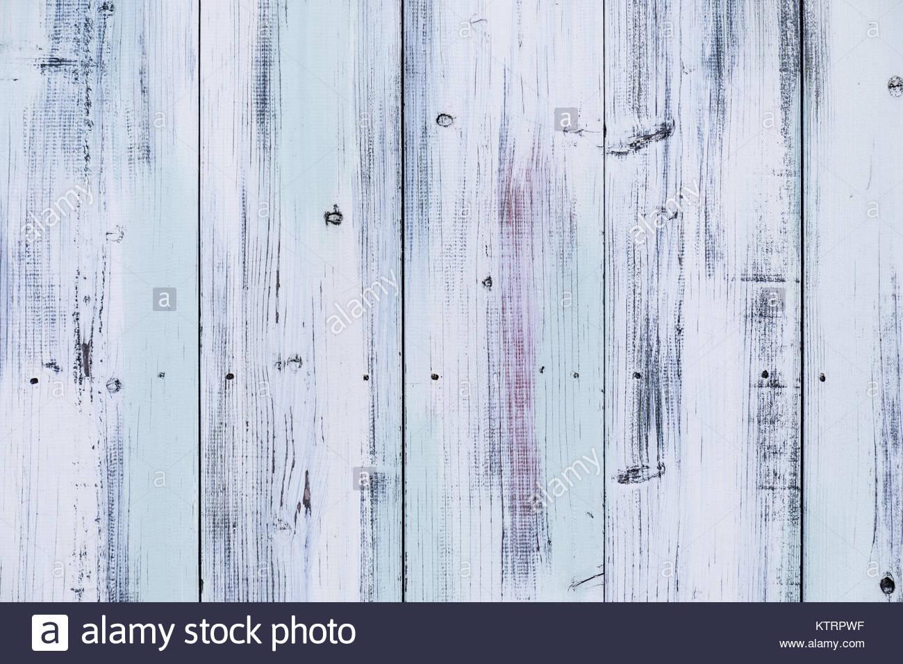 Painted wooden wall, Honan, Suginami, Tokyo - Stock Image