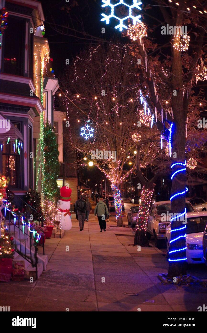 Christmas Lights In Pa.Decorative Residential Christmas Lights South Philadelphia