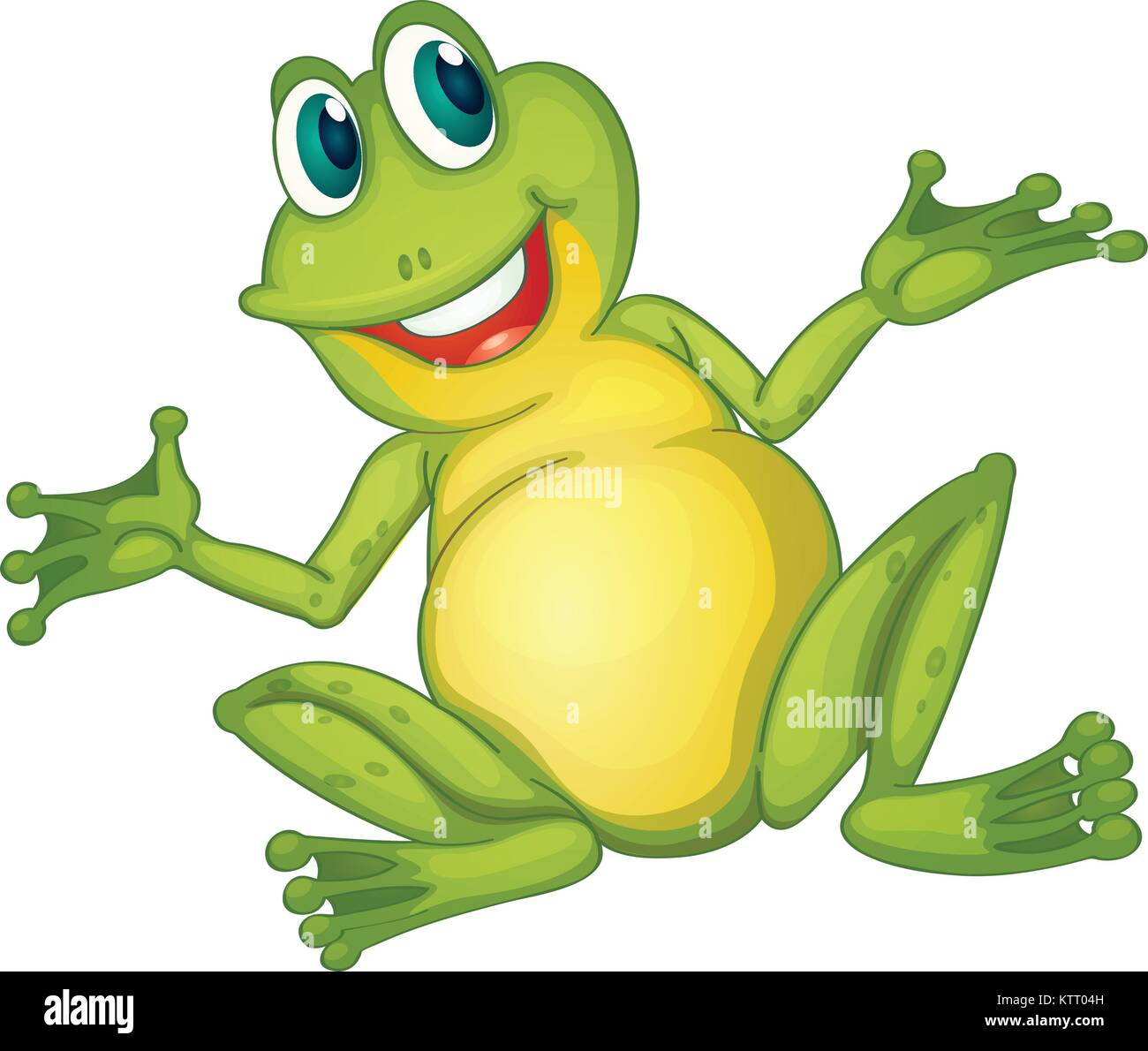 Illustration of a frog cartoon character Stock Vector