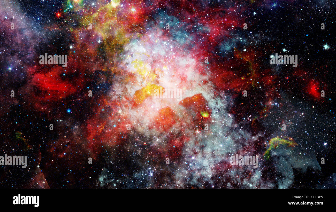 High definition star field background. Elements of this image furnished by NASA. - Stock Image