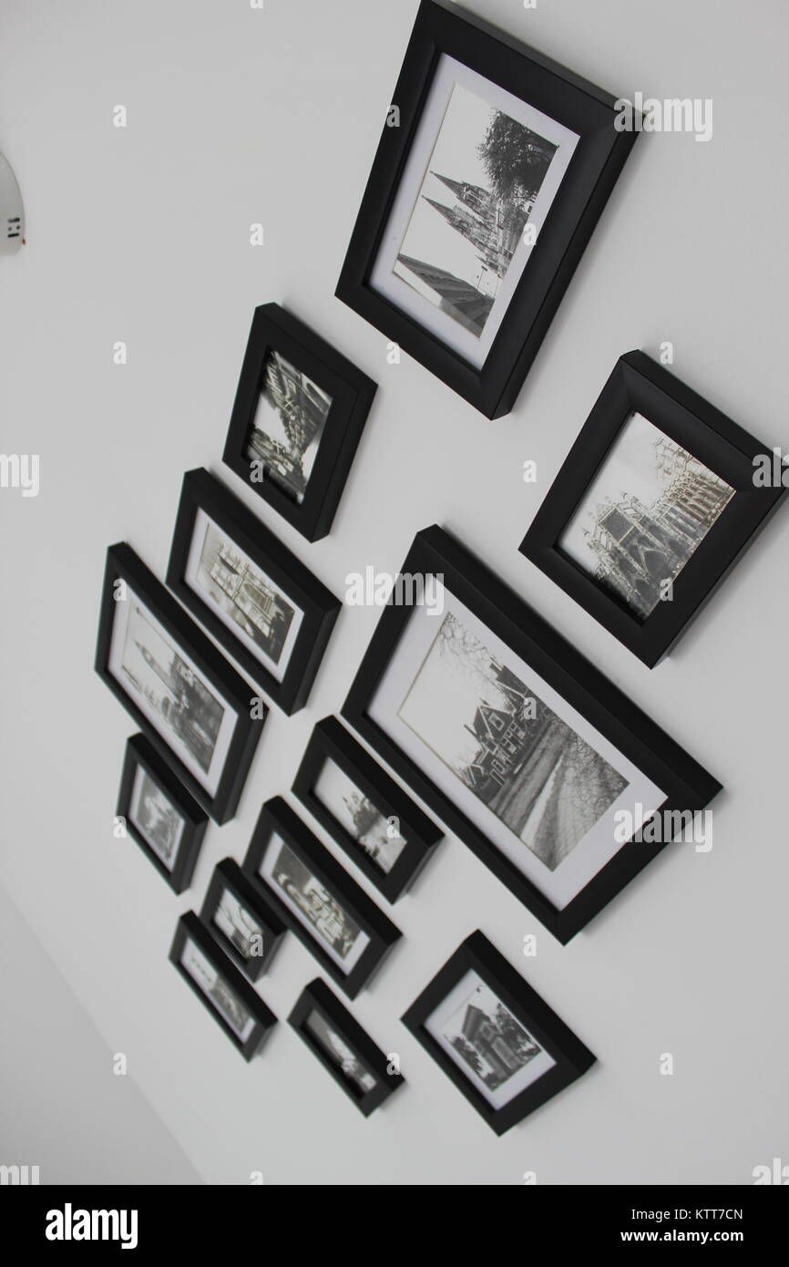 Memories on a wall - Stock Image