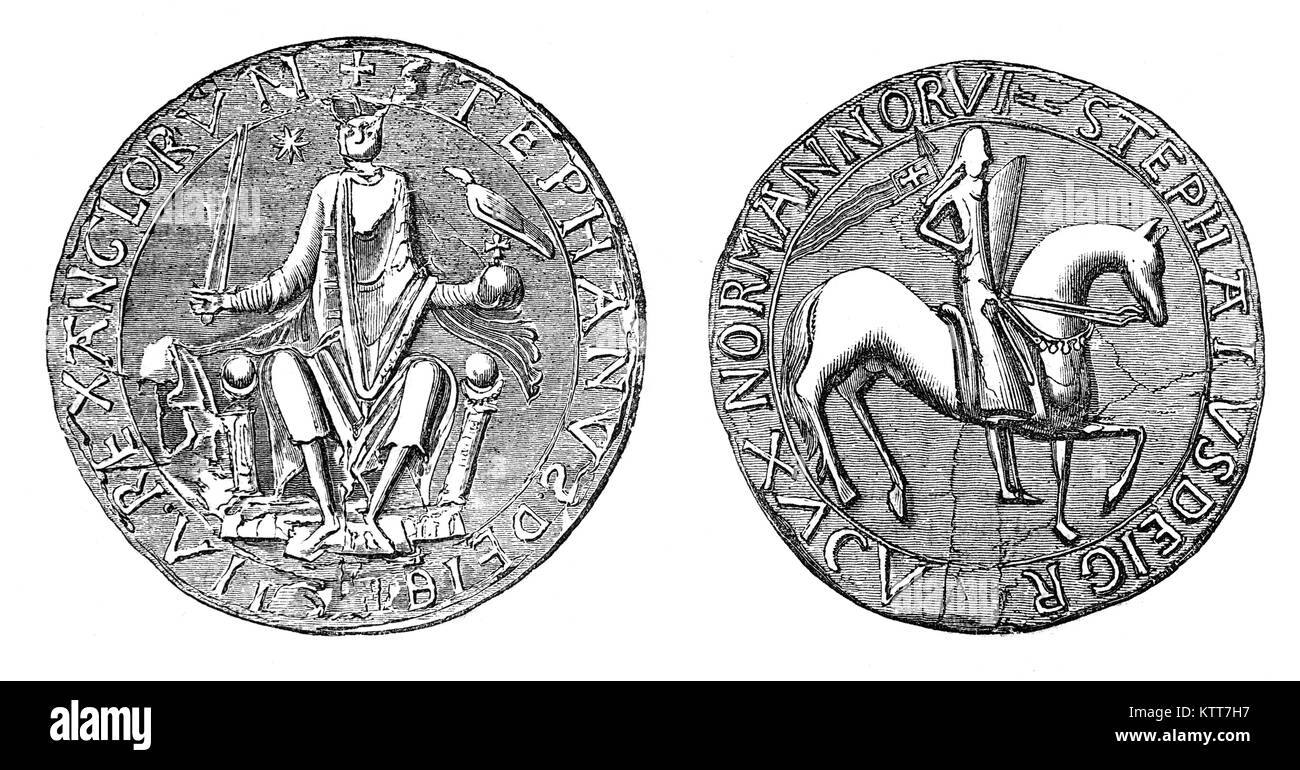 The Great Seal of Stephen was a seal used to symbolise the Sovereign's approval of important state documents. - Stock Image