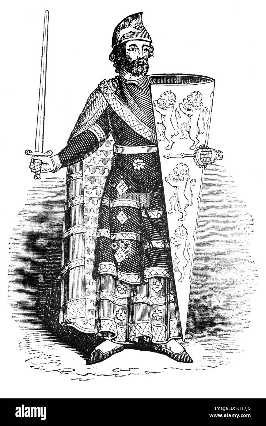 Geoffrey V (1113 – 1151), called the Handsome or the Fair and Plantagenet — was the Duke of Normandy by conquest Stock Photo