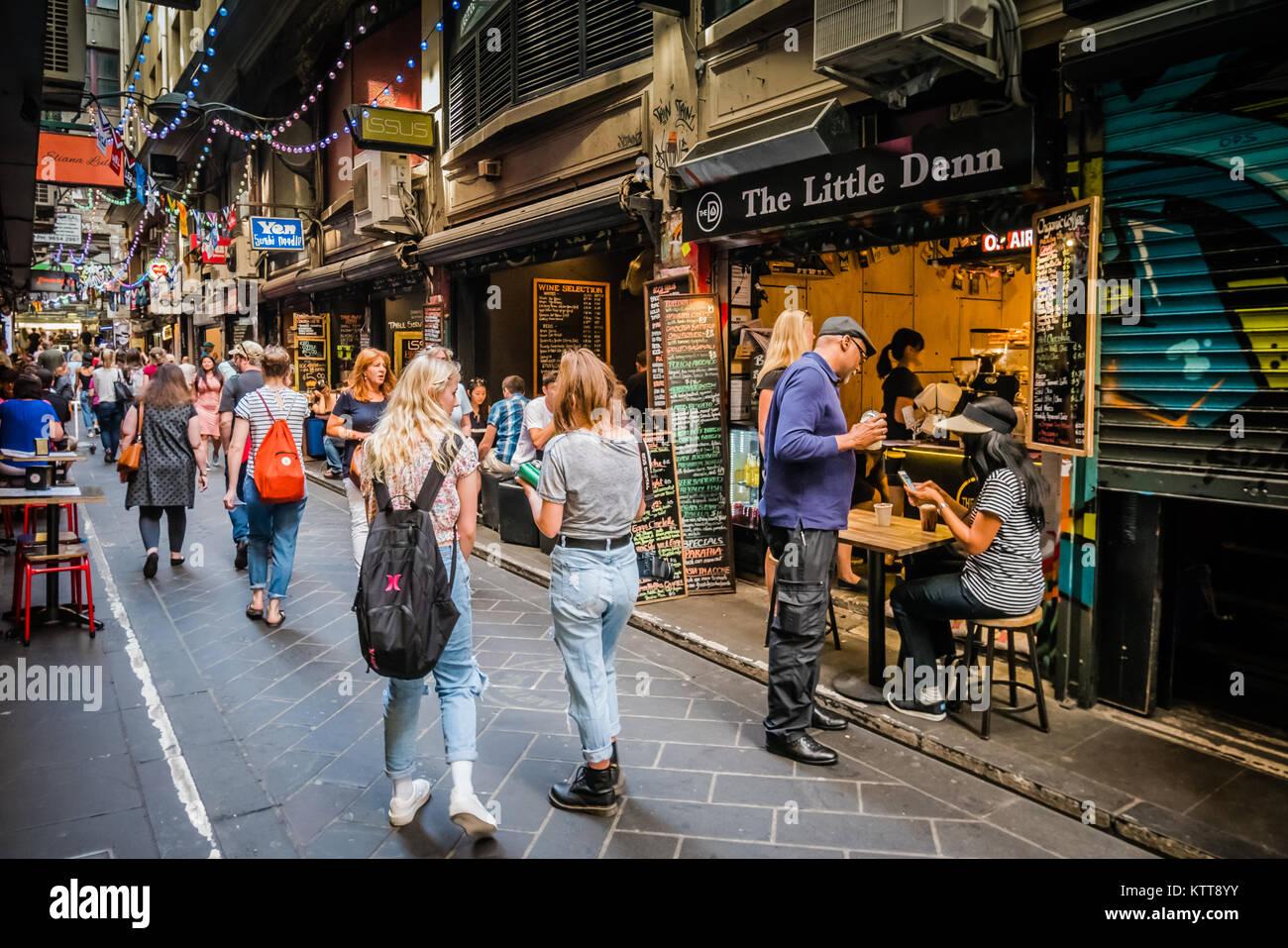 melbourne collins street - Stock Image