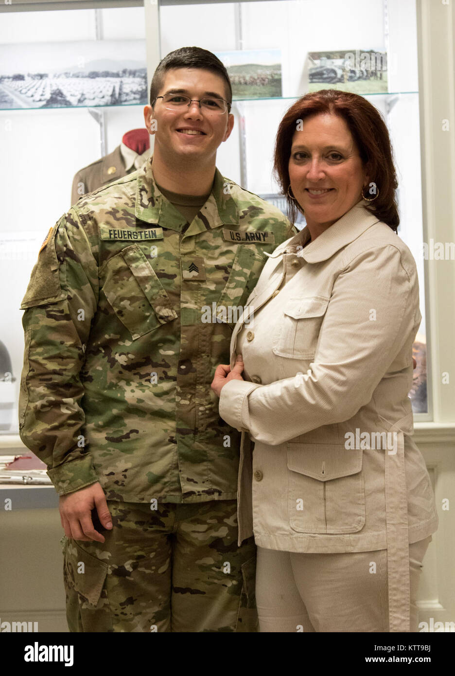 U.S. Army Spc. Max Feuerstein, a paralegal noncommissioned officer assigned to the Headquarters and Supply Company, Stock Photo